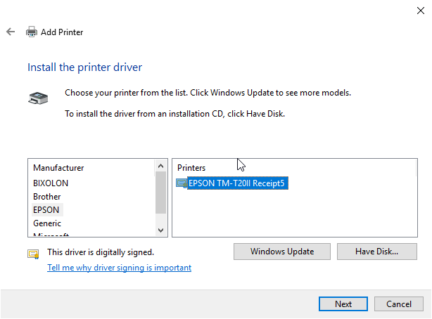 File:Win devicesAndPrinters addAPrinter driverSelect.png